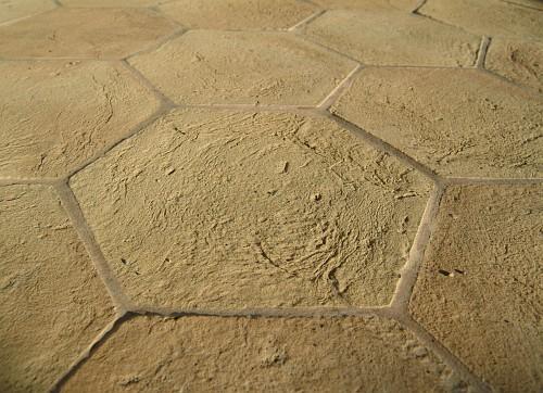 foto di un pavimento in cotto