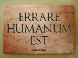 aforisma latino errare humanum est
