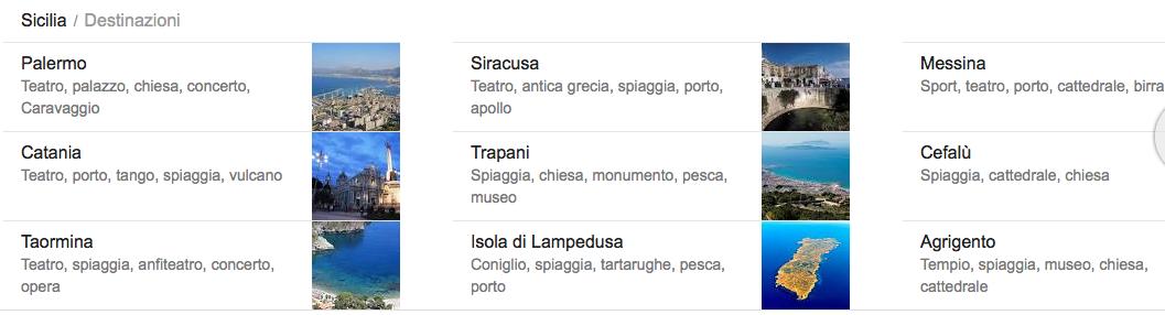 Destinazioni per una vacanza in Sicilia
