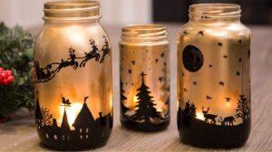 vaso in vetro alto da decorare